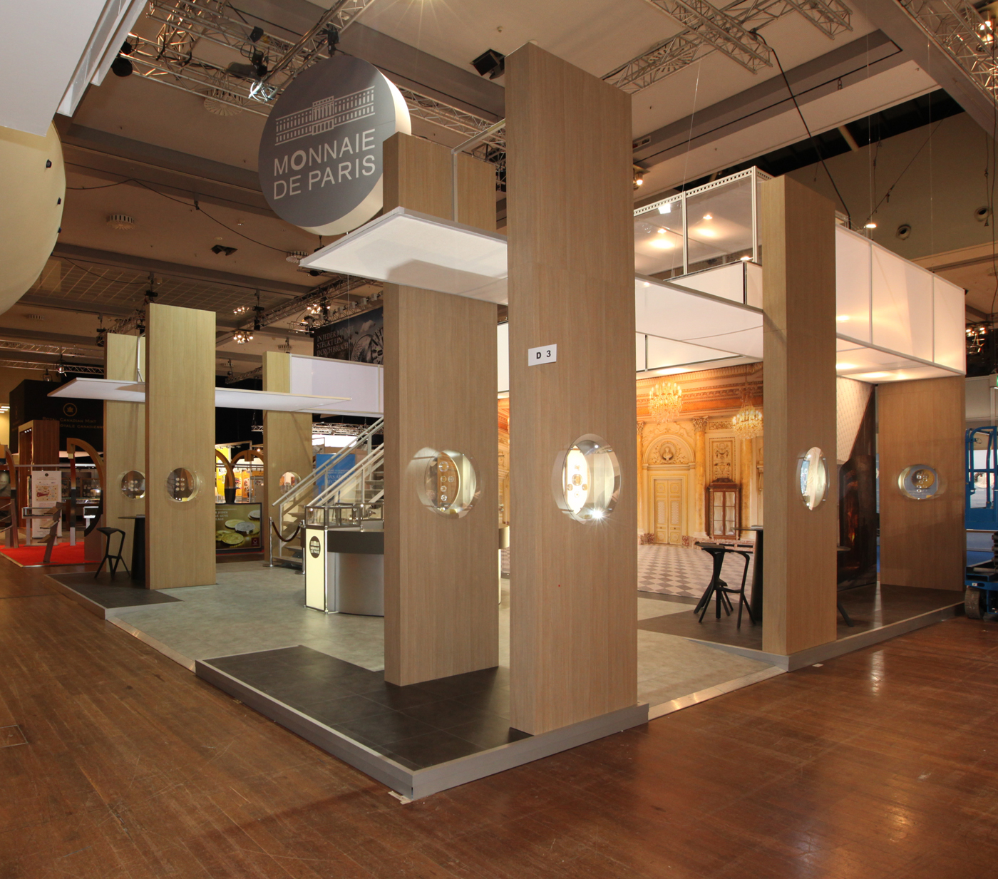 Stands modulaires monnaie de paris stand acto co for Menuiserie stand exposition