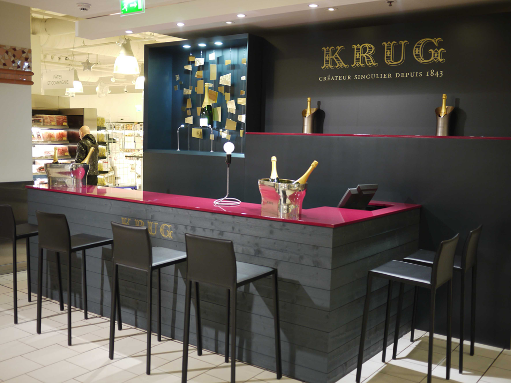 Bar sur mesure krug stand acto co for Stand pub