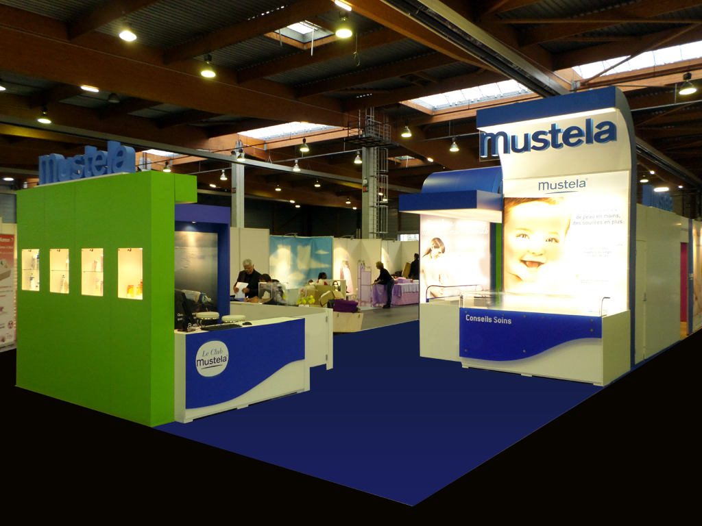 Stands modulables sur le salon baby stand acto co for Salon stand