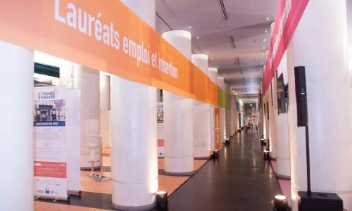 Système modulaire Acto 1 pour l'installation générale à L'institut du Monde Arabe La France s'engage 2015