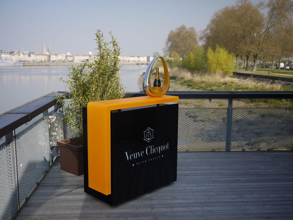 Mobilier pour le champagne Veuve Cliquot