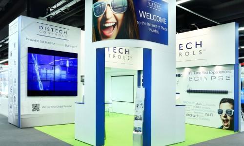 Stand modulaire pour la société Distech - stand remontable et réutilisable