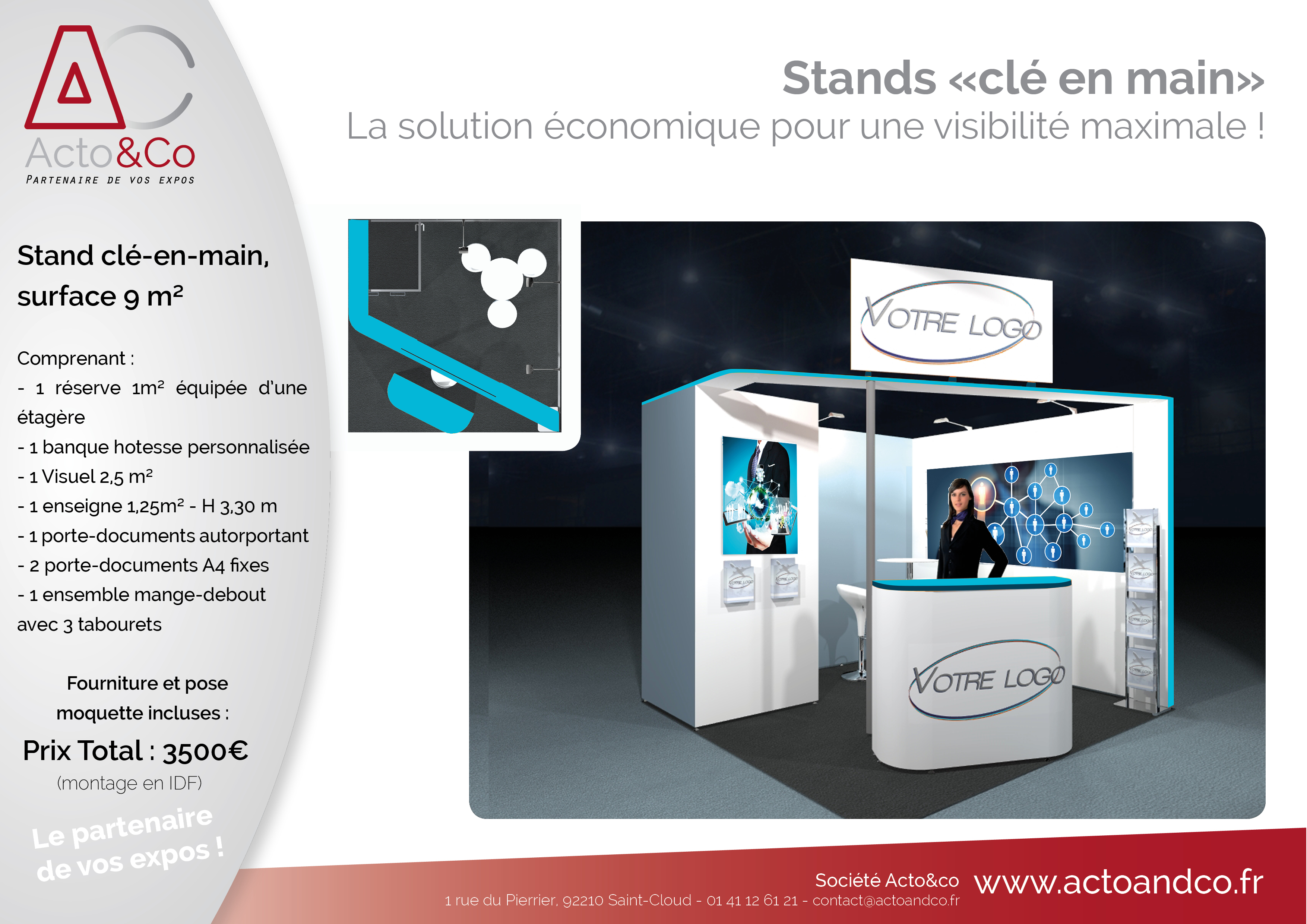 Stand cle en main 9m²