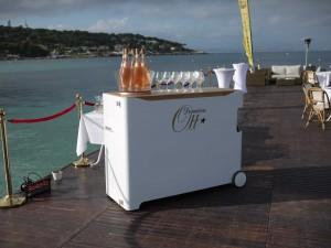 fabrication d'un bar mobile pour les Domaines Ott