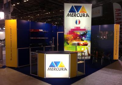Stand Mercura en système modulaire remontable reconfigurableStand Mercura en système modulaire remontable reconfigurable